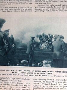 74-4-Ephemera-Ww1-1916-Picture-British-Army-Gas-Mask-Sports-Race