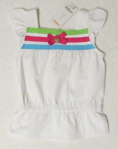 NWT Gymboree ICE CREAM SWEETIE White Woven Ribbon Trim Top Shirt