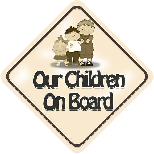 Unpersonalised Our Children Baby On Board Car Sign