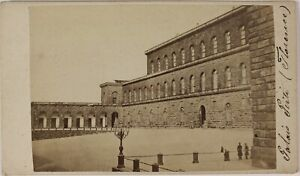 Florence Palais Pitti Italia Foto CDV PL52L5n58 Vintage Albumina