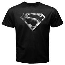 New Blur Shield Superman Logo Krypton Smallville Clark Kent Black T-shirt Tee