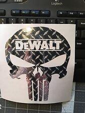 DeWalt DIAMOND PLATE Vinyl Decal Sticker Toolbox Car Truck Window Bumper