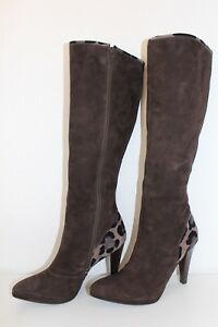 Damen High 40 Peter 5 Wildleder Kaiser Leder Heel Leather Echt Stiefel Uk6 Boots w5qO46q