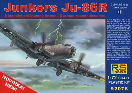 Rs Models 1/72 Junkers Ju-86r  9278