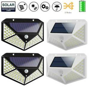 100LED-Solar-Power-PIR-Motion-Sensor-Wall-Light-Outdoor-Garden-Lamp-Waterproof