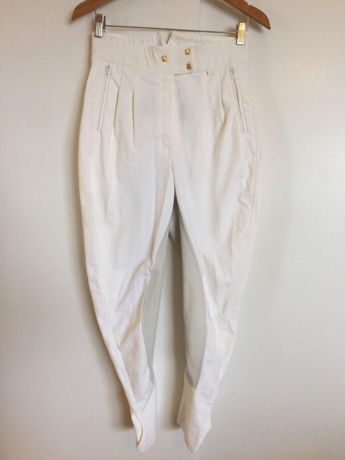 Asiento  Completo Pantalones De Montar De oro Vestido blancoo 28R Doma  mejor calidad mejor precio