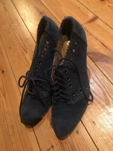 4 Softwear petrolio Lace Ladies scarpe Up taglia Clarks con camoscio 5 tacco in blu g7wwxHq