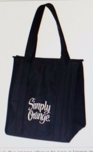 SIMPLY ORANGE BRAND JUICE INSULATED REUSABLE SHOPPING BAG TOTE SHOPPER COOLER