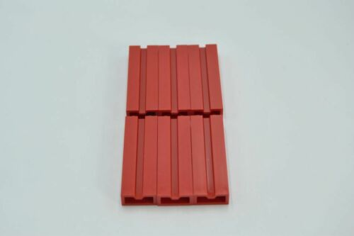 LEGO 6 x Stein Rille Nut rot Red Brick Modified 1x2x5 with Groove 88393