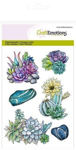 Silikonstempel Clear Stamps Craft Emotions Blühende Kakteen Kaktus Sukkulente