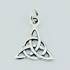 USA Seller Celtic Knot Triangle Pendant Sterling Silver 925 Best Deal Jewelry