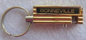 Vintage-Pontiac-Bonneville-Gold-amp-Black-Keychain-Quick-Release-Keyring