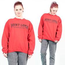 WOMENS VINTAGE 90'S POINT LOMA NAZARENE UNIVERSITY RED CREW NECK SWEATSHIRT 12