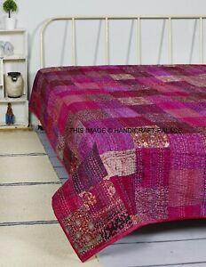 Indian Paradise Design kantha couette Plaid Couvre-lit Literie Coton Queen Blanket
