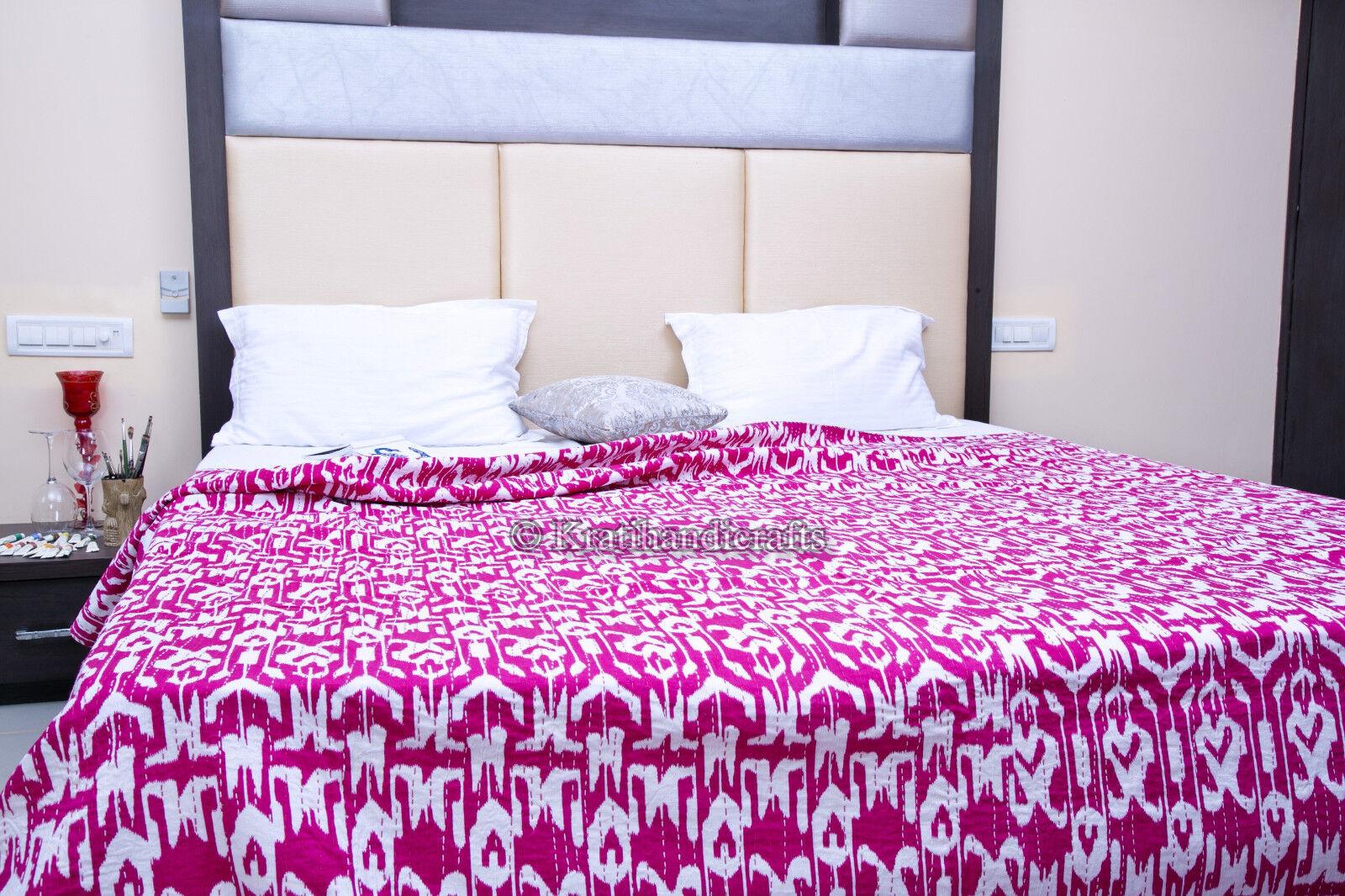 Gypsy Blanket Indian Handmade Kantha Quilt Bohemian Boho Ralli Bedspread Gudri