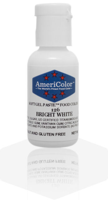 Americolor Soft Gel Paste Food Color .75-Ounce Bright White