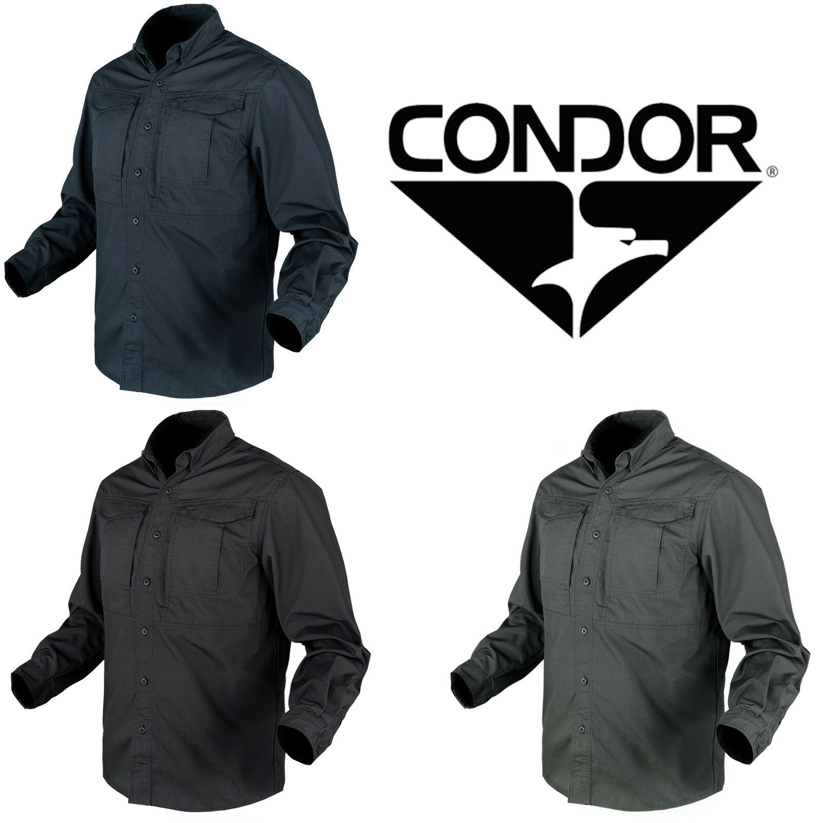 Condor Tactical Rip-Stop Flexible Lightweight Casual Button-Up Tac-Pro Shirt   welcome to order