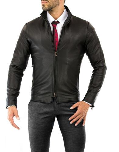 ★Giacca Giubbotto Uomo in di PELLE 100/%★ Men Leather Jacket Veste Homme Cuir 35z