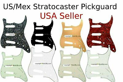 * NEW Brown Tortoise Stratocaster PICKGUARD for Fender Strat 3 Ply Standard