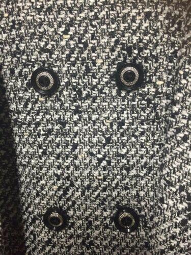 Ivory Jakke Med 12 Tweed Blazer Velvet Bælte Tahari Jordan New Black Krave qRWtf60