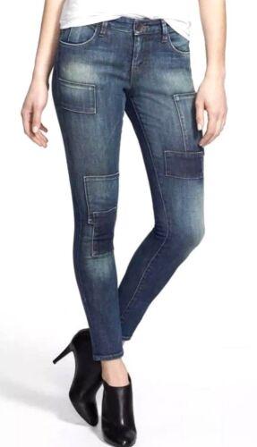 Femmes Kut 10 Jeans Sz Skinny Patchwork Brigitte La De Cheville Kloth tqTFq