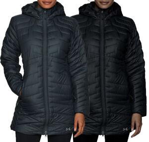 NEW UNDER ARMOUR COLDGEAR REACTOR PARKA Black / Grey UA Women's S-M-L-XL Jacket
