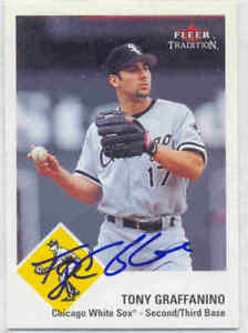 TONY GRAFFANINO CHICAGO WHITE SOX SIGNED CARD BRAVES RED RAYS INDIANS BREWERS