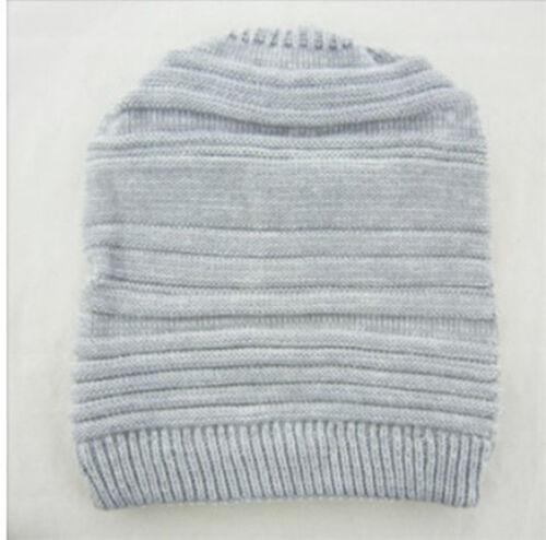 Women Braided Winter Warm Baggy Beanie Knit Oversized Slouch Crochet Ski Hat Cap