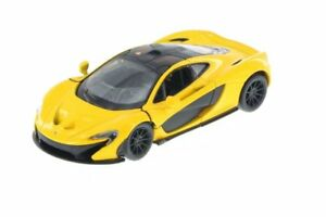 New-Kinsmart-5-034-McLaren-P1-Diecast-Model-Toy-Car-Pull-Action-1-36-Yellow