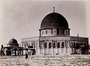 Gerusalemme Israele Palestina Foto Albumina Stampa Verso 1890 Piccole