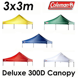COLEMAN-DELUXE-3x3m-GAZEBO-300D-CANOPY-ROOF-REPLACEMENT-COVER-TOP-FITS-OZTRAIL