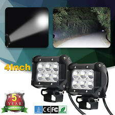 """CREE 4"""" Inch Led Work Light Sqaure Off Road Jeep Suv Driving Spot Lights ATV 4x4"""