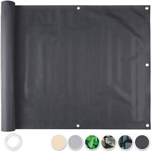 balkonbespannung sichtschutz windschutz sichtblende balkon garten zaunblende ebay. Black Bedroom Furniture Sets. Home Design Ideas
