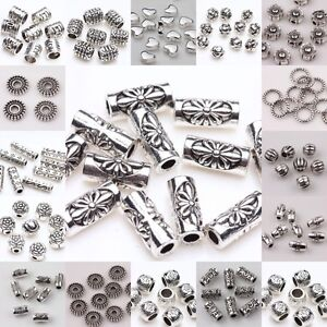 20-50-100pc-Tibetan-Silver-Loose-Tube-Spacer-Beads-Charms-Jewelry-Making-DIY