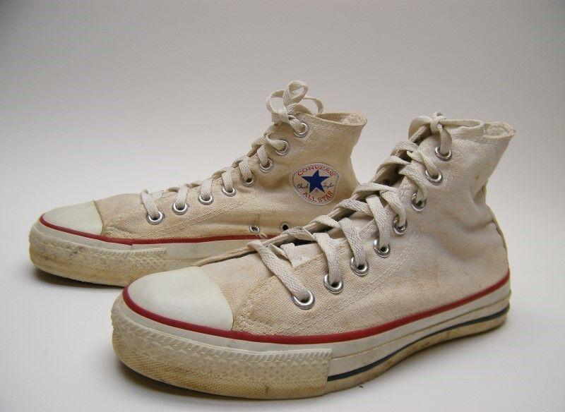 Herren CONVERSE ALL STAR CHUCK TAYLOR 7 Weiß BASKETBALL Schuhe SZ 7 TAYLOR MADE IN THE USA b5e740