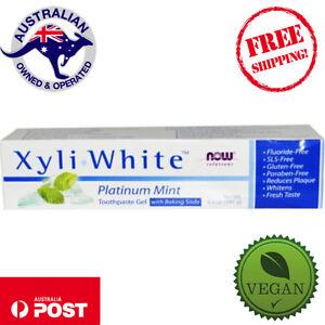 Now-Foods-Xyli-White-Toothpaste-Gel-2-Flavours-181g-Vegan-Flouride-Free