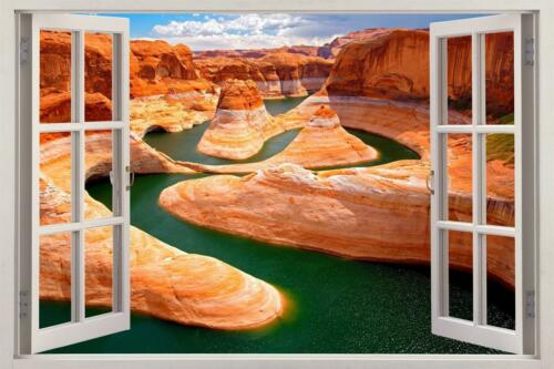 Grand Canyon 3D Window View Decal WALL STICKER Decor Art Mural Scenic View