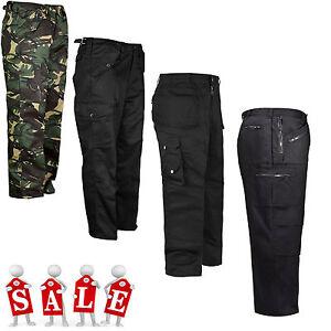 Para-Hombre-De-Carga-Combate-Pantalones-De-Trabajo-Ejercito-Militar-Camuflaje-Camuflaje-Pantalones