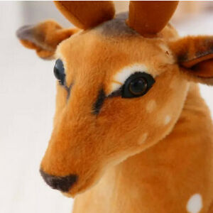 1-Pcs-Stuffed-Artificial-Simulation-Animal-Sika-Deer-Plush-Baby-Toy-Gift-yb