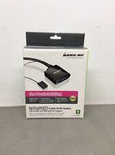 $70 BELKIN 2-Port USB KVM Switch Cables Audio F1DL102U