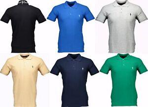 Polo-Cesare-Paciotti-Uomo-Men-t-shirt-100-Italy-Fashion-Piquet-Stone-Washed-Vin