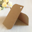 50x Kraft paper tags scrapbooking DIY craft birthday wedding party favour gift