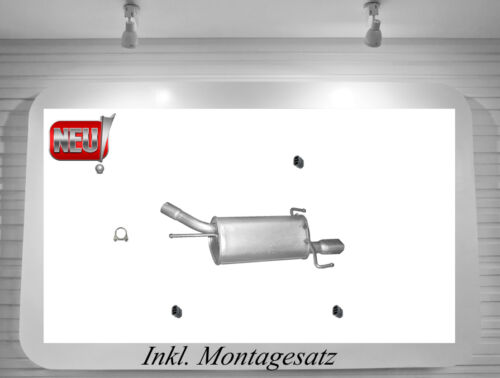 Montagesatz Endschalldämpfer Opel Tigra 1.4 1.6 16V Auspuff Endtopf