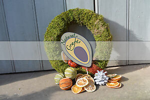 Dried Moss Wreath christmas wreath, multiple sizes