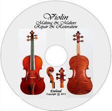 VIOLIN Making/Repair/Restore,Varnish-Tone,Luthier Schools,Masterpieces,Play /DVD