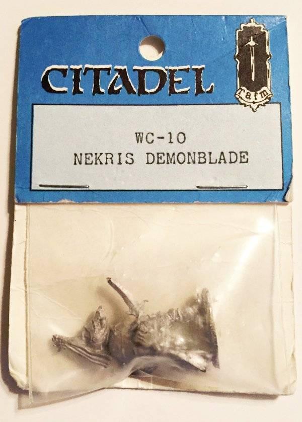 Citadel RAFM WC -10 Nekris Demonblade Chaos First Citadel Compendium Sealead 1983