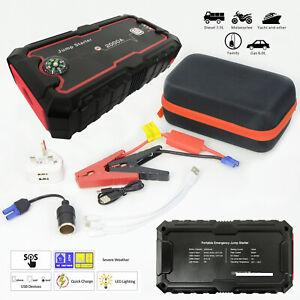 Coche-Portatil-Cargador-bateria-Jump-Starter-Doble-Puerto-USB-Banco-de-Alimentacion-Hagalo-usted
