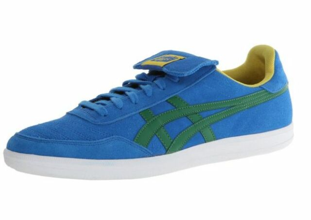 sale retailer 737f3 4f986 ONITSUKA TIGER D401L.4284 HULSE Mn's (M) Mid Blue/Green Suede Lifestyle  Shoes