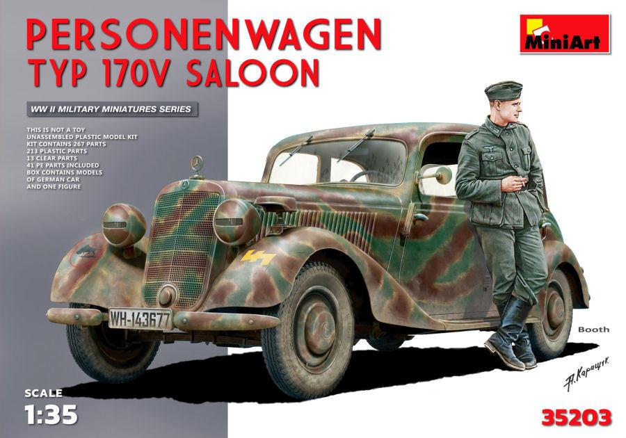 Personenwagen Personenwagen Personenwagen Passenger Car Typ 170V Saloon Plastic Kit 1 35 Model MINIART fac8e4