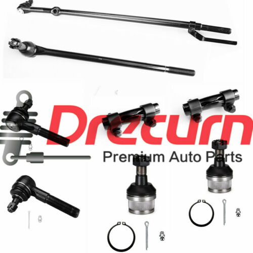 8Pcs Tie Rod /& Ball Joint Kit For 1986-1996 Ford F-150  2WD